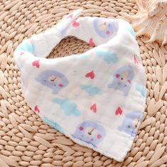 Eco Friendly Baby Dribble Bibs / Toddler Bandana Bibs All Season Used